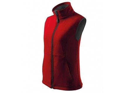Vision softshellová vesta dámská červená