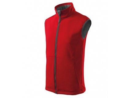 Vision softshellová vesta pánská červená