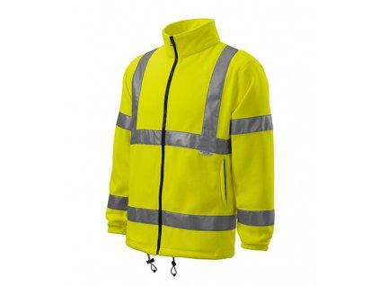 HV Fleece Jacket fleece unisex fluorescenční žlutá