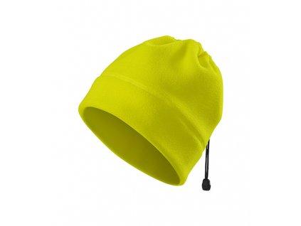 HV Practic fleece čepice unisex fluorescenční žlutá