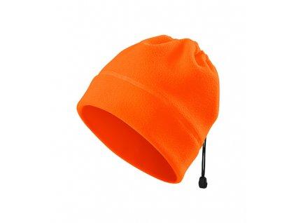 HV Practic fleece čepice unisex fluorescenční oranžová