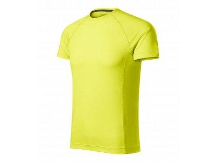 Destiny tričko pánské neon yellow