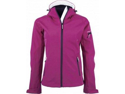 TJ9554 dámská softshellová bunda růžová (Velikost/varianta 3XL)