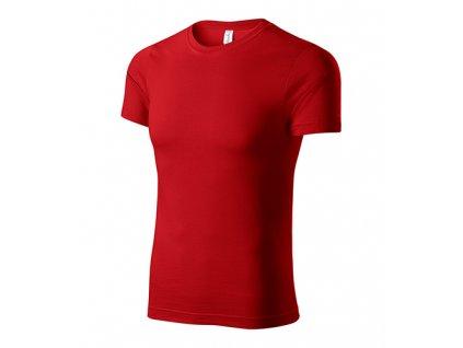 Paint tričko unisex červená