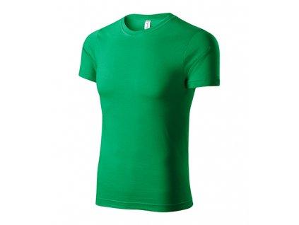 Paint tričko unisex středně zelená
