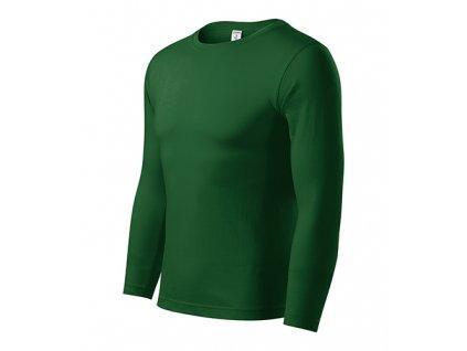 Progress LS triko unisex lahvově zelená