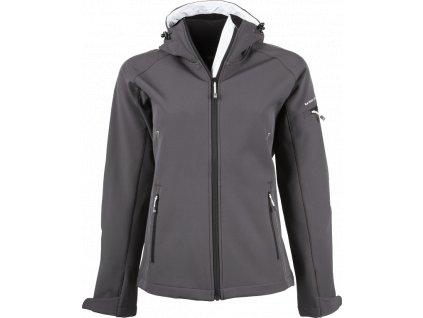 TJ9554 dámská softshellová bunda šedá (Velikost/varianta 3XL)