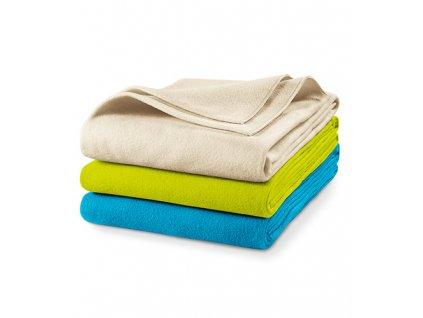 Blanky fleecová deka unisex tyrkysová
