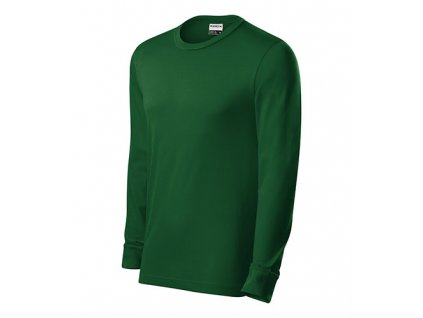 Resist LS triko unisex lahvově zelená