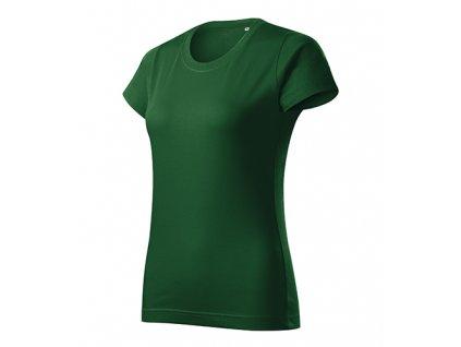 Basic Free tričko dámské lahvově zelená