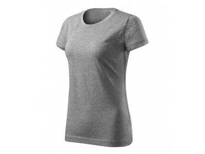 Basic Free tričko dámské tmavě šedý melír