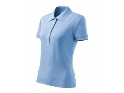 Cotton Heavy polokošile dámská nebesky modrá