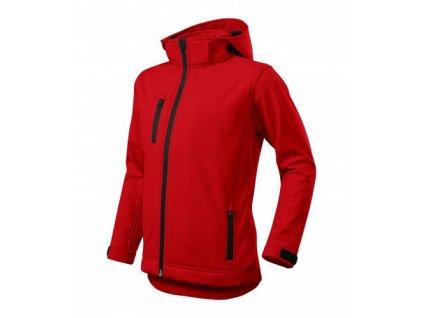 Performance softshellová bunda dětská červená