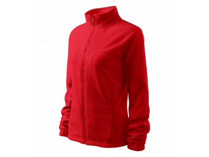 Jacket fleece dámský červená