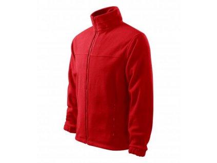 Jacket fleece pánský červená