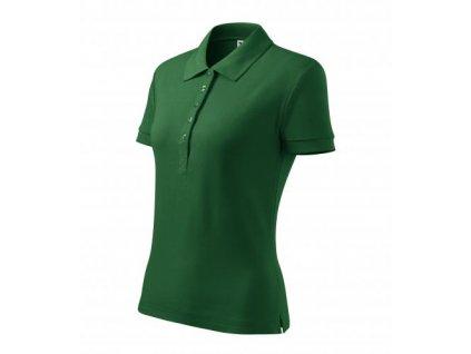 Cotton Heavy polokošile dámská lahvově zelená