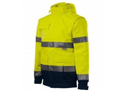 HV Guard 4 in 1 bunda unisex fluorescenční žlutá