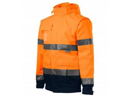 HV Guard 4 in 1 bunda unisex fluorescenční oranžová