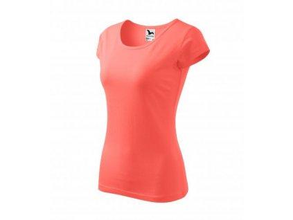Pure tričko dámské korálová
