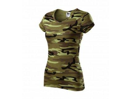 Camo Pure tričko dámské camouflage green