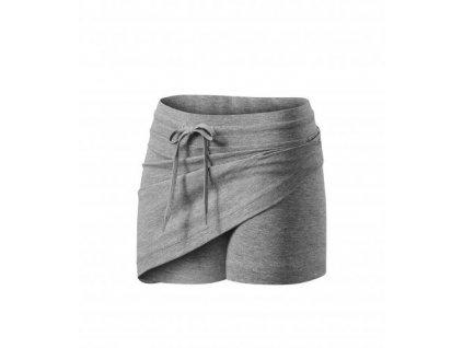 Two in one sukně dámská tmavě šedý melír