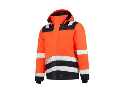 Midi Parka High Vis Bicolor pracovní bunda unisex fluorescenční oranžová