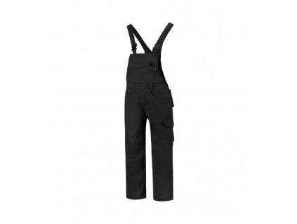 Dungaree Overall Industrial pracovní kalhoty s laclem unisex černá