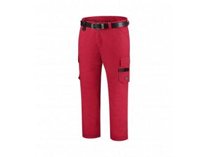 Work Pants Twill pracovní kalhoty unisex červená