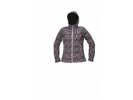 YOWIE PRINTED softshellová bunda fialovomodrá (Velikost/varianta 2XL)