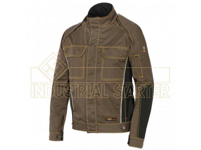 STRETCH EXTREME monterková bunda khaki-černá (Velikost/varianta 3XL)