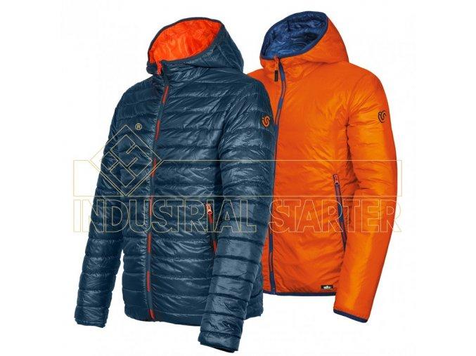 KENNY oboustranná bunda modro-oranžová (Velikost/varianta 3XL)