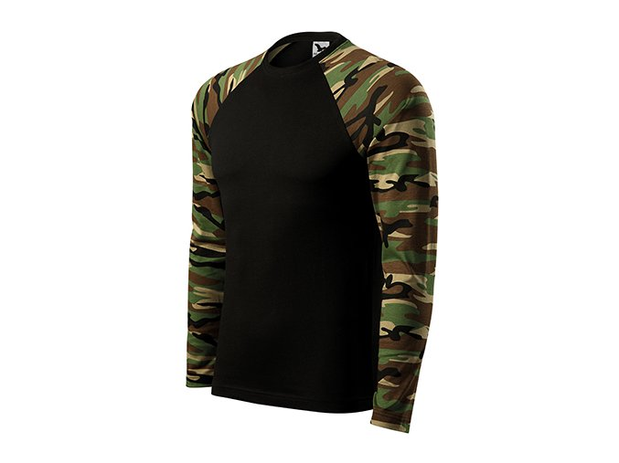 Camouflage LS triko unisex camouflage brown