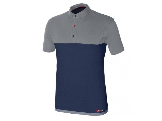 STRETCH polo tričko krátký rukáv modré (Velikost/varianta 3XL)