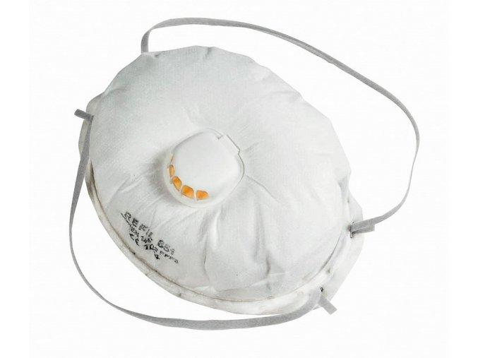 REFIL 851  respirátor tvarovaný s ventilem FFP3 (Velikost/varianta UNI)