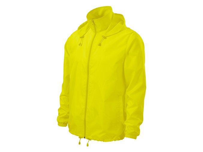 Windy větrovka unisex neon yellow