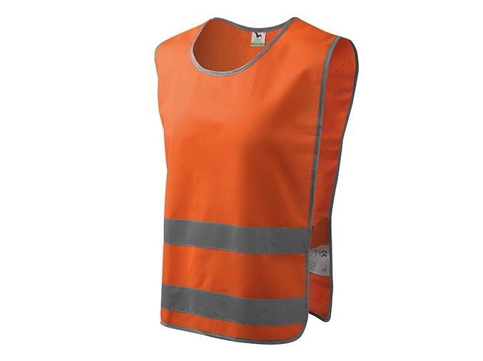 Classic Safety Vest bezpečnostní vesta unisex reflexní oranžová