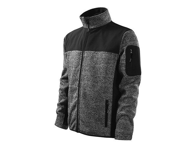 Casual softshellová bunda pánská knit gray