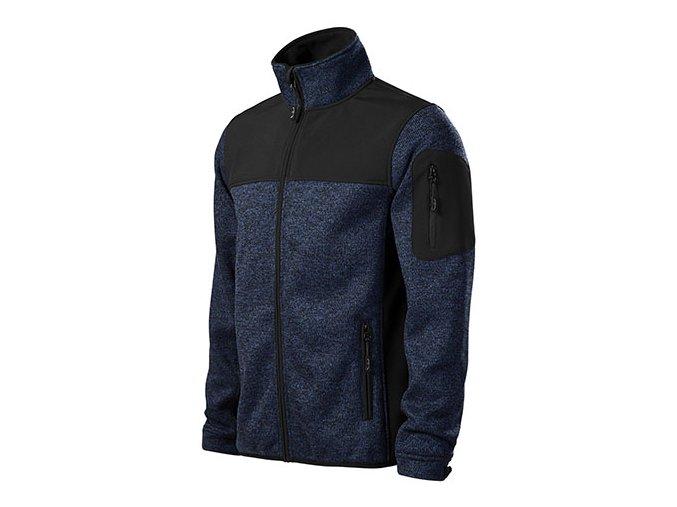 Casual softshellová bunda pánská knit blue