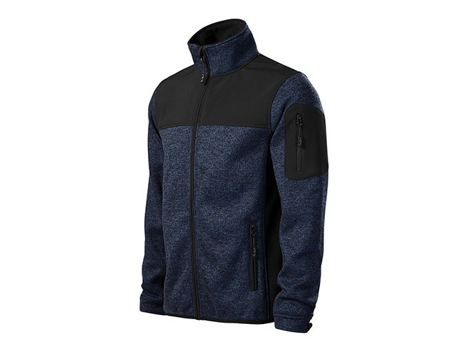 MALFINI CASUAL 550 softshellová bunda modrá (Velikost/varianta 3XL)