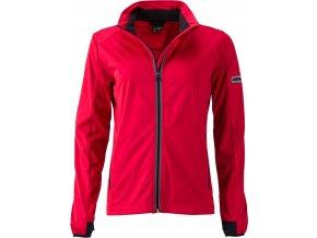 JN 1125 dámská softshellová bunda červená (Velikost/varianta 2XL)