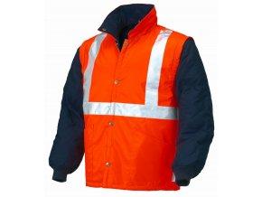 NAPOLI 04648N reflexní bunda oranžová-modrá (Velikost/varianta 3XL)