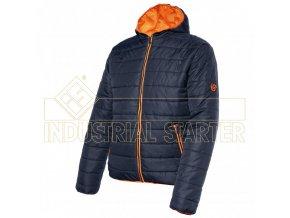 GREENWICH zateplená bunda modro-oranžová (Velikost/varianta 3XL)