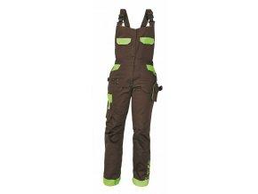 YOWIE montérkové kalhoty s laclem dámské hnědé (Velikost/varianta 48)