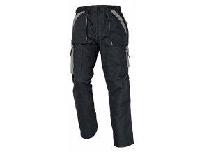 MAX montérkové kalhoty černo-šedé (Velikost/varianta 64)