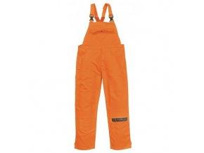 BIZWELD nehořlavé pracovní kalhoty s náprsenkou oranžové (Velikost/varianta 3XL)