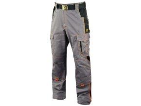 VISION O2 pracovní kalhoty monterkové do pasu šedo-černé (Velikost/varianta 64)