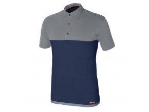 STRETCH polo tričko krátký rukáv modré