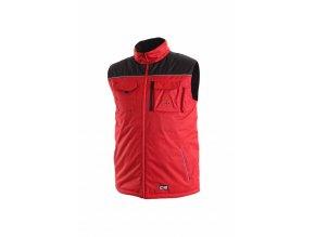 SEATTLE zateplená vesta červeno-černá (Velikost/varianta 3XL)