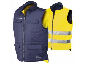 REVERSE oboustranná vesta žlutá - modrá (Velikost/varianta 4XL)