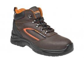 BENNON Farmis S3 high pracovní kotníková obuv hnědá (Velikost/varianta 48)